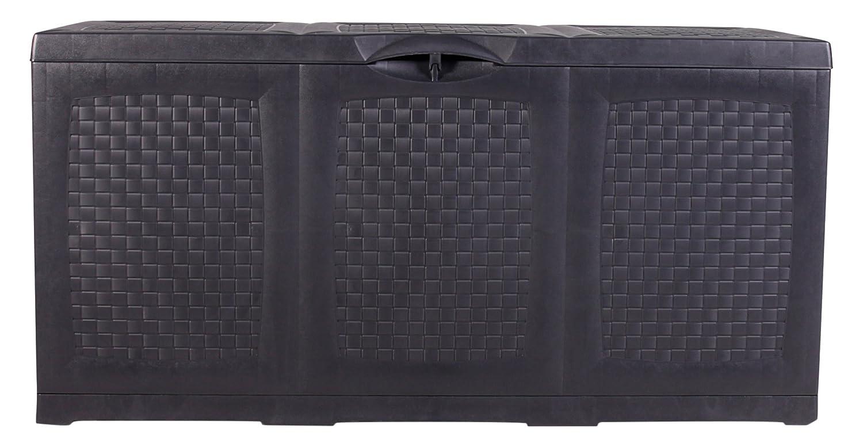 Vanage Aufbewahrunsgboxen Auflagen / Kissen / Aufbewahrungsbox HIPPO, circa 120 x 52 x 60 cm, schwarz