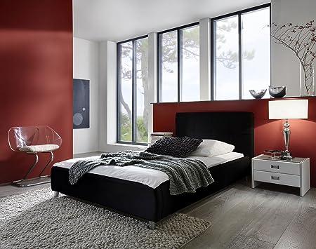 SAM® Polsterbett ZARAH schwarz 100 x 200 cm Polster Bett komfortabel exklusiv Lieferung erfolgt uber Spedition zerlegt