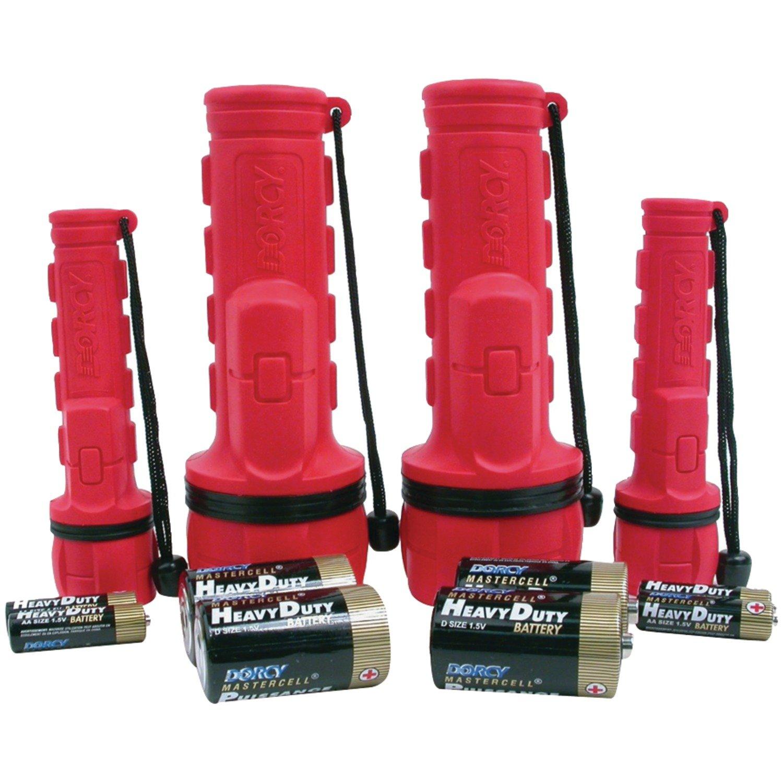 Flashlight Combo Pack Rubber Flashlight Combo
