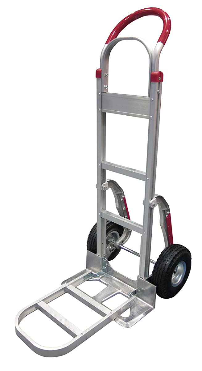 Tyke Supply Aluminum Stair Climber Hand Truck with foldable extension nose