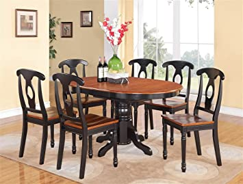 7-Pc Oval Dining Table and Chairs Set