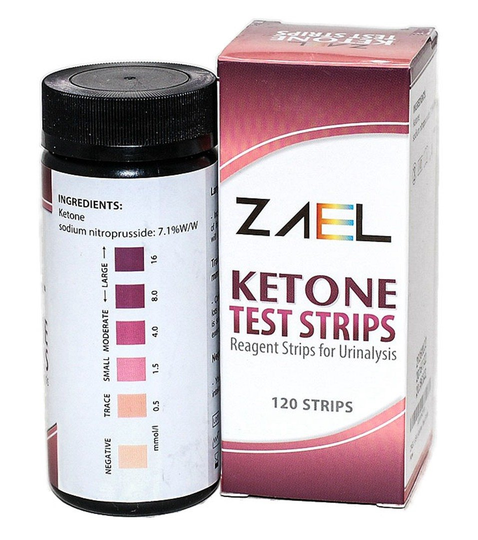 ZAEL Ketone Test Strips, 120ct Premium Value with Free Low Cab One Week Meal Plan (8x11), Ketone Urine Test * Perfect for Ketosis, Diabetics, Paleo & Atkins Diet