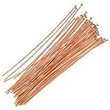 Beadaholique 720Q-2.00 50-Piece Head Pins, 24-Gauge, 2-Inch, Copper