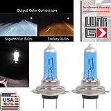 WTG H7 (High Beam) Super White Xenon Halogen Headlight Light Bulbs 100W (Contains 2 Bulbs)