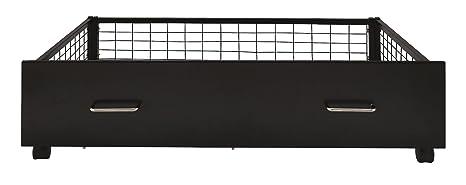 Urban nero metallo sotto il letto con cassetti (2cassetti)