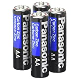Panasonic Heavy Duty AA Battery 4 Pack (Color: Black, Tamaño: AA)