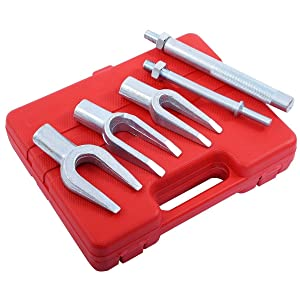 WIN.MAX 5PC Tie Track Rod Ball Joint Pitman Splitter Removal Extractor Set Kit-Separator for Cars and Light Trucks
