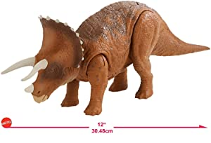 Jurassic World Roarivores Electronic Dinosaurs Triceratops (Press Button for Sound & Head-Ramming Action) & Roarivores Metriacanthosaurus Press Button and Mouth Opens and Roars Age 3+ New!