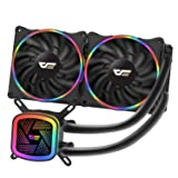 darkFlash DT240 240mm Water Liquid Cooling AIO Cooler Radiator with 120mm LED Rainbow Lighting Case Fan CPU Cooler (DT240 (Rainbow)) (Color: DT240 (Rainbow))