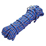 Outdoor Climbing Rope 20M(64ft) Rock Climbing Rope, Diameter 10mm, Escape Rope Climbing Equipment Fire Rescue Parachute Rope