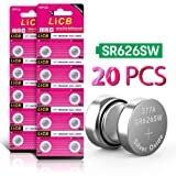 LiCB 20 Pack SR626SW 377 626 Battery 1.5V Button Cell Batteries