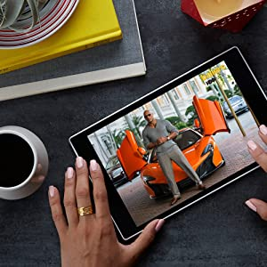Fire HD 10 Tablet with Alexa, 10.1 HD Display, 32 GB, Black (Previous Generation - 5th) (Color: Black, Tamaño: 32 GB)