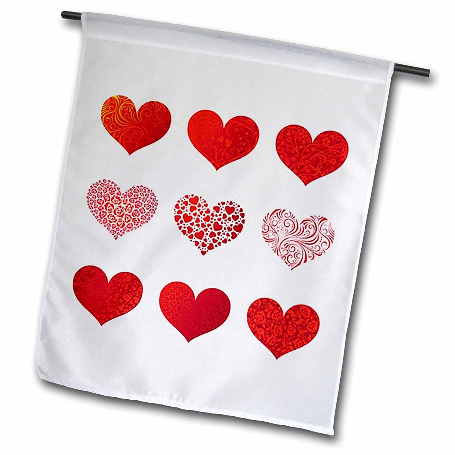 Valentine 9 Red Hearts Garden Flag, 12 By 18 Inch Valentine 9 Red Hearts  Flag Is A Creative Way To Celebrate All Year Round By Adding A Little Bit  Of Color ...