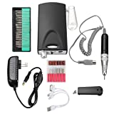 DANCINGNAIL Rechargeable Electric Nail File Drill Bit Manicure Pedicure Machine Tool Set Kit