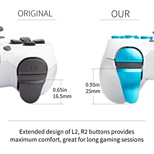 Z&Hveez Metal Buttons for PS4 Controller Gen 2, Metal Aluminum