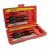 ABN Reciprocating Saw Wood & Metal/Bi-Metal Blade 10-Piece Set – Demolition, Plumbing, General Reciprocate Blades Kit