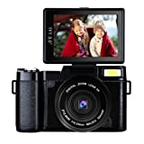 Digital Camera Camcorder Full HD 1080p 24MP Video Camera 3.0-Inch LCD Mini Vlogging Camera With UV Lens (Color: H-G2C)