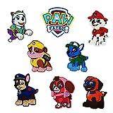 8pcs Kids Embroidered Paw Patrol Patch Sew On/Iron On Patch Applique Clothes Dress Plant Hat Jeans Sewing Flowers Applique DIY Accessory (8pcs Dog Patrol) (Color: 8pcs dog patrol)