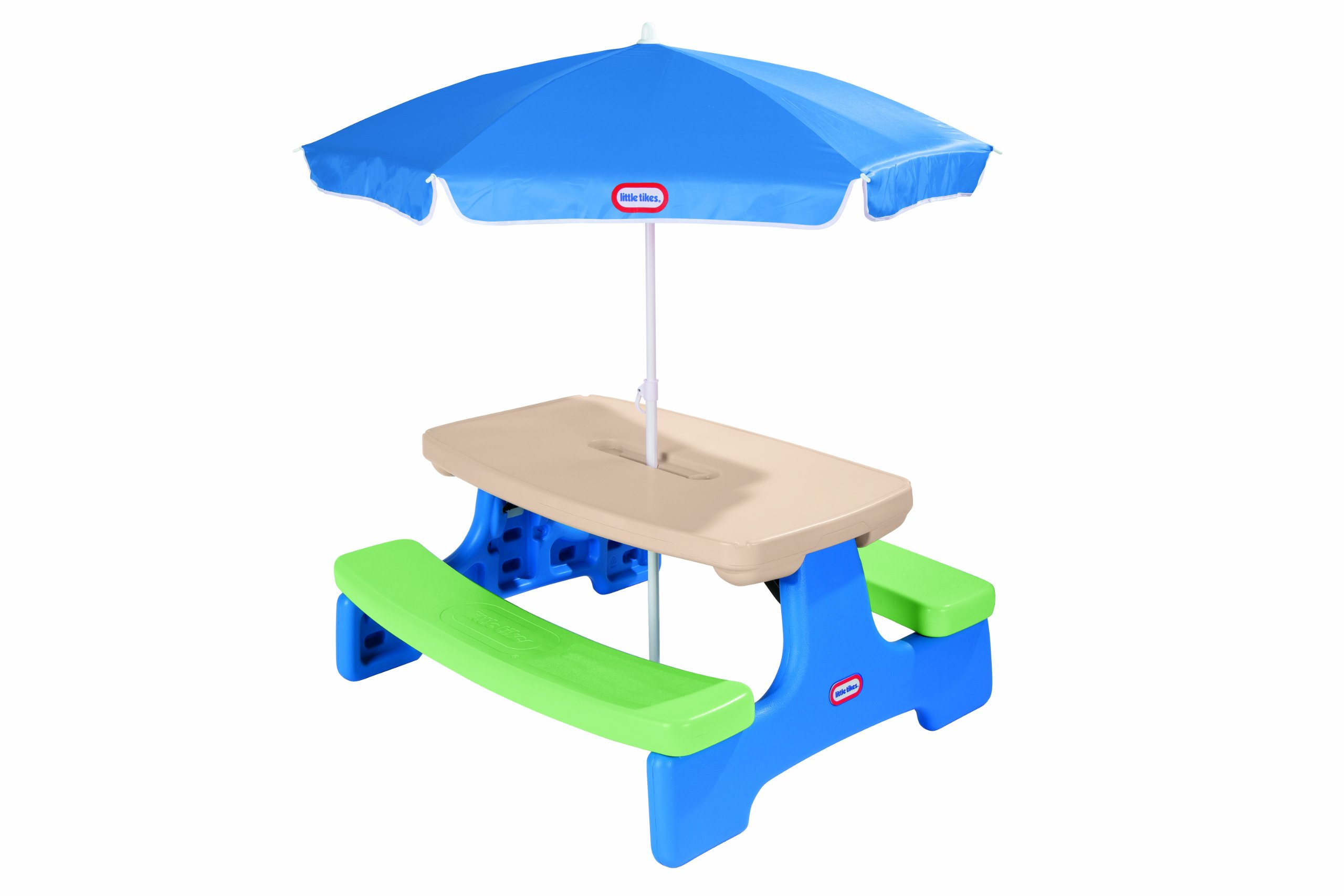 Umbrella For Picnic Table : Little Tikes Easy Store Picnic Table with Umbrella - Child Size