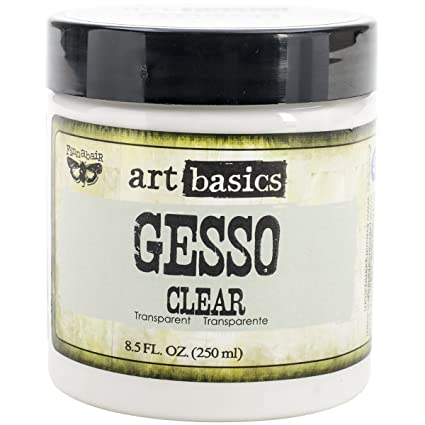 Prima Marketing Art Basics Gesso, 8.5-Ounce, Clear