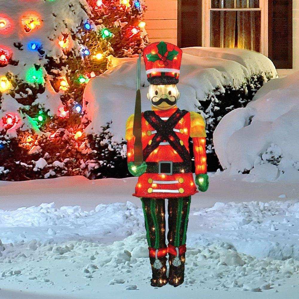 Nutcracker outdoor yard stakes christmas wikii for Outdoor christmas yard decorations