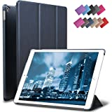 iPad Pro 9.7 Case, ROARTZ Metallic Navy Blue Slim Fit Smart Rubber Coated Folio Case Hard Shell Cover Light-Weight Auto Wake/Sleep For Apple iPad Pro 9.7-inch Model A1673/A1674/A1675 Retina (Color: Metallic Navy Blue, Tamaño: 9.7 Inch)