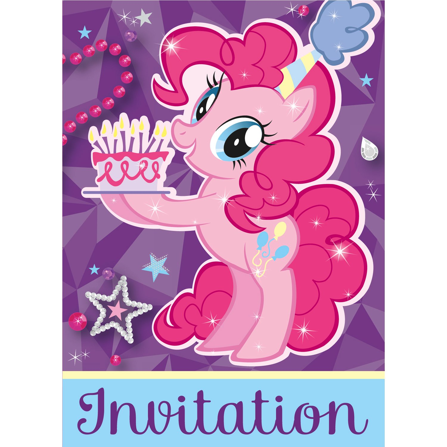 My Little Pony Birthday Cards and Invitations