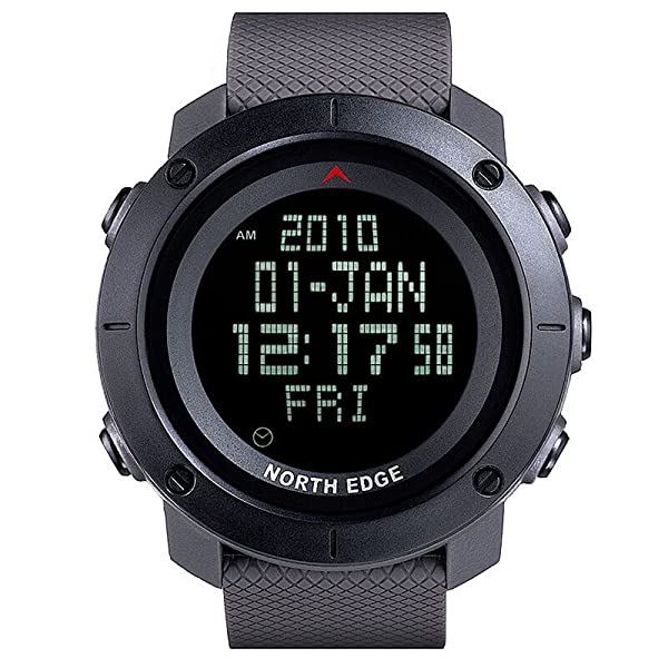 NORTH EDGE Men's sports Digital watch Army LED Back Light