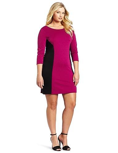 Color block dresses plus size