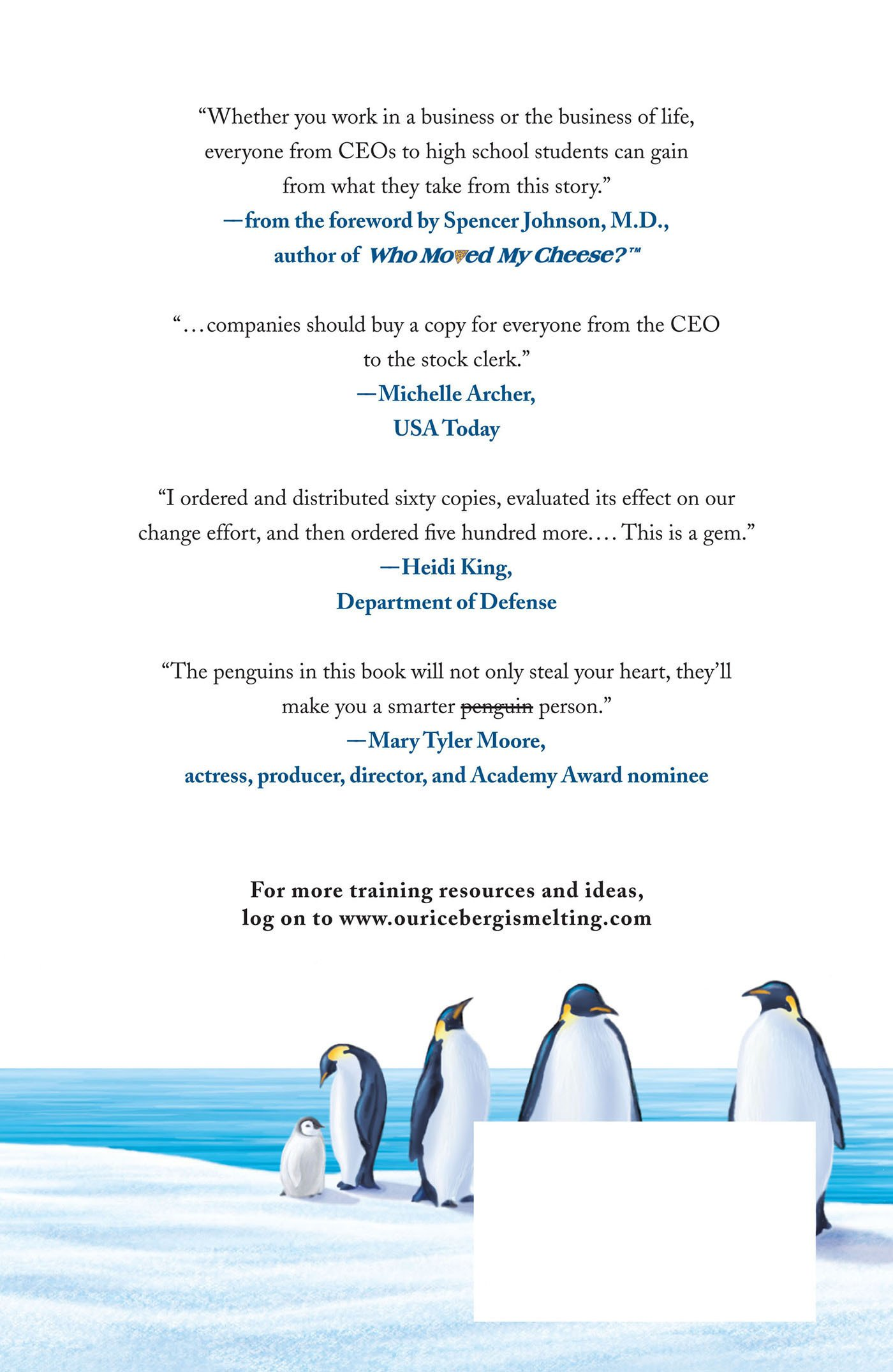 ice berg is melting Our iceberg is melting is a simple fable about doing well in an ever-changing  world based on the award-winning work of harvard's john kotter,.