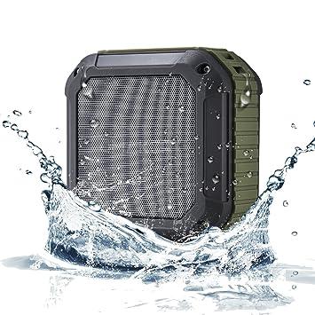【クリックでお店のこの商品のページへ】[アウトドア/お風呂に最適なBluetoothスピーカー]OmakerM4 防水スピーカー Bluetooth4.0+EDR 小型なワイヤレススピーカー マイク搭載とNFC対応なUSBスピーカー iPhone/iPhone6/iPhone6plus/iPhone5s/iPad/ipod/スマホ対応なポータブルスピーカー(オリーブグリーン): 家電・カメラ