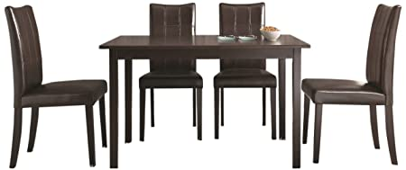 1429131+8540146 Eveleen Brown Dining Table and Chair, 5-piece