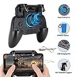 PUBG Mobile Game Controller, Ismael Erickson Phone Trigger Sensitive Shoot and Aim L1R1 Cellphone Gamepad Joystick Black (Tamaño: R-Black)