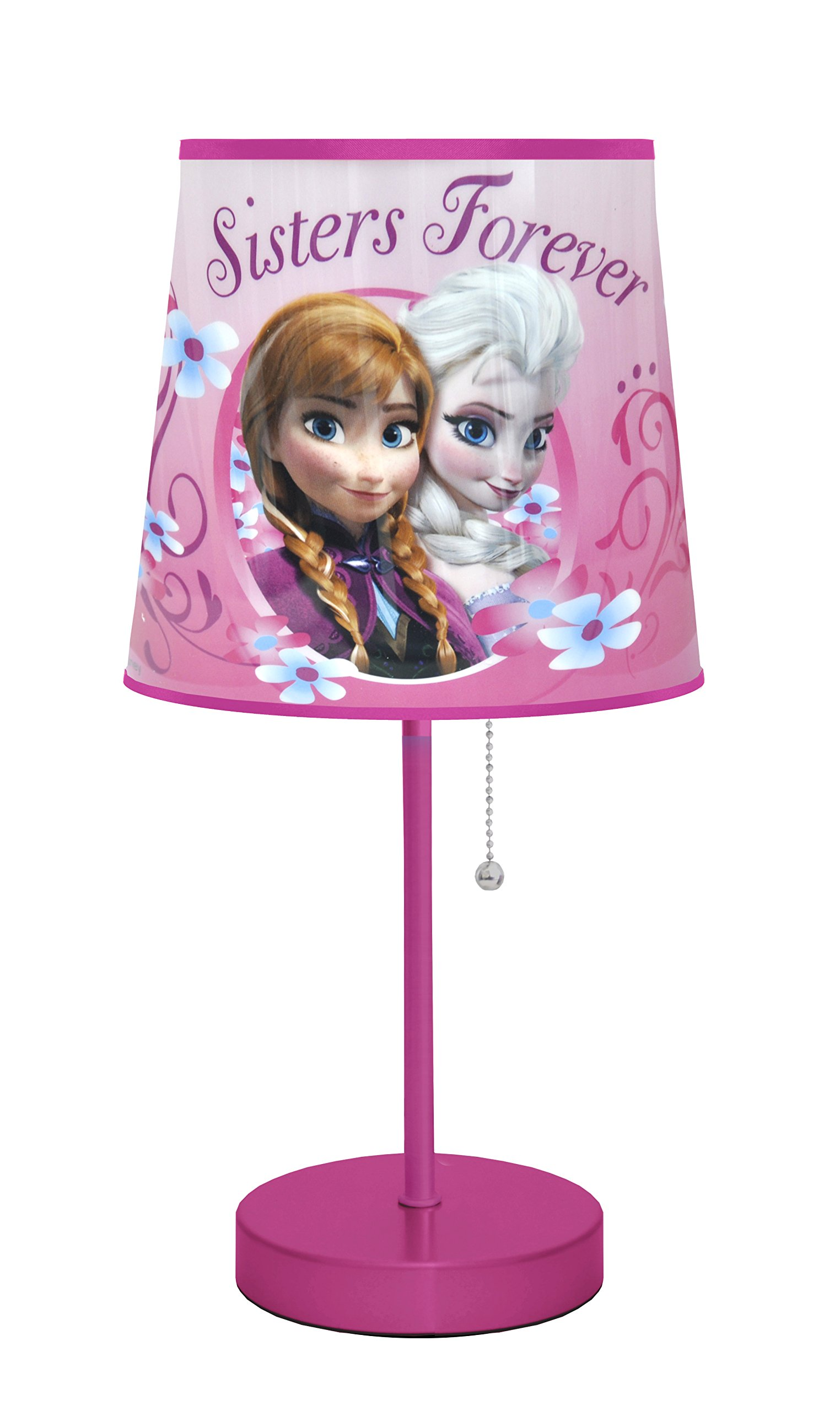 disney frozen pink table lamp kids bedroom elsa anna decorative