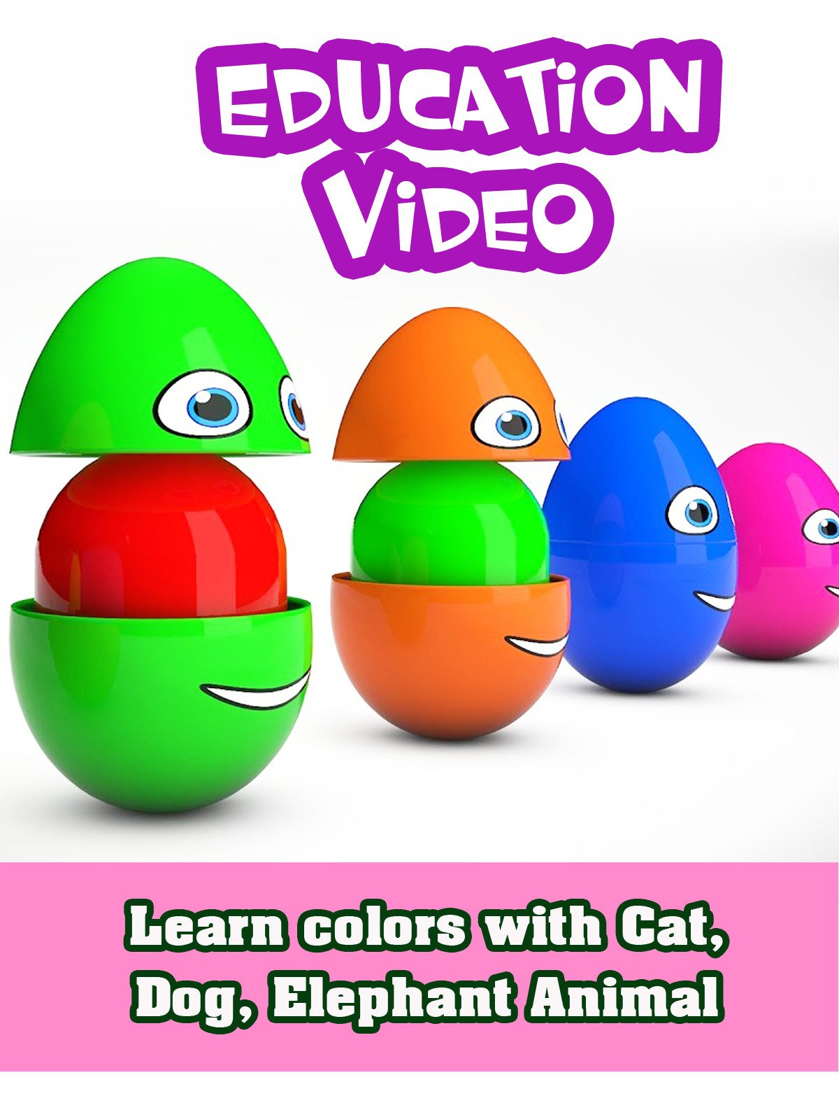 Learn colors with Cat, Dog, Elephant Animal on Amazon Prime Instant Video UK