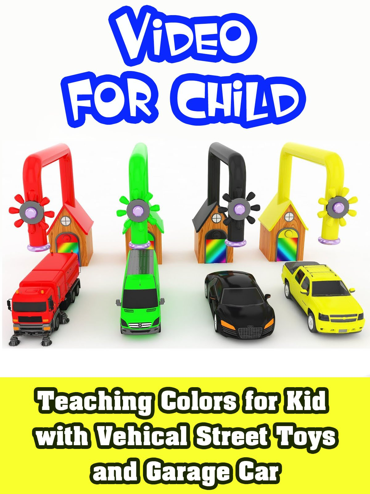 Teaching colors for kid with Vehical Street Toys and Garage Car