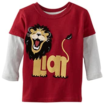 Watch Me Grow! by Sesame Street Baby Boys' Lion Top, Red, 12 Months
