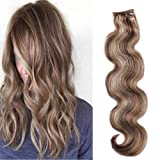 Body Wave Clip in Hair Extensions 18