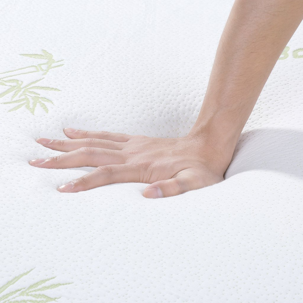 LANGRIA 3-Inch King Gel-infused Memory Foam Mattress Topper with Removable Zipper and Hypoallergenic Bamboo Cover