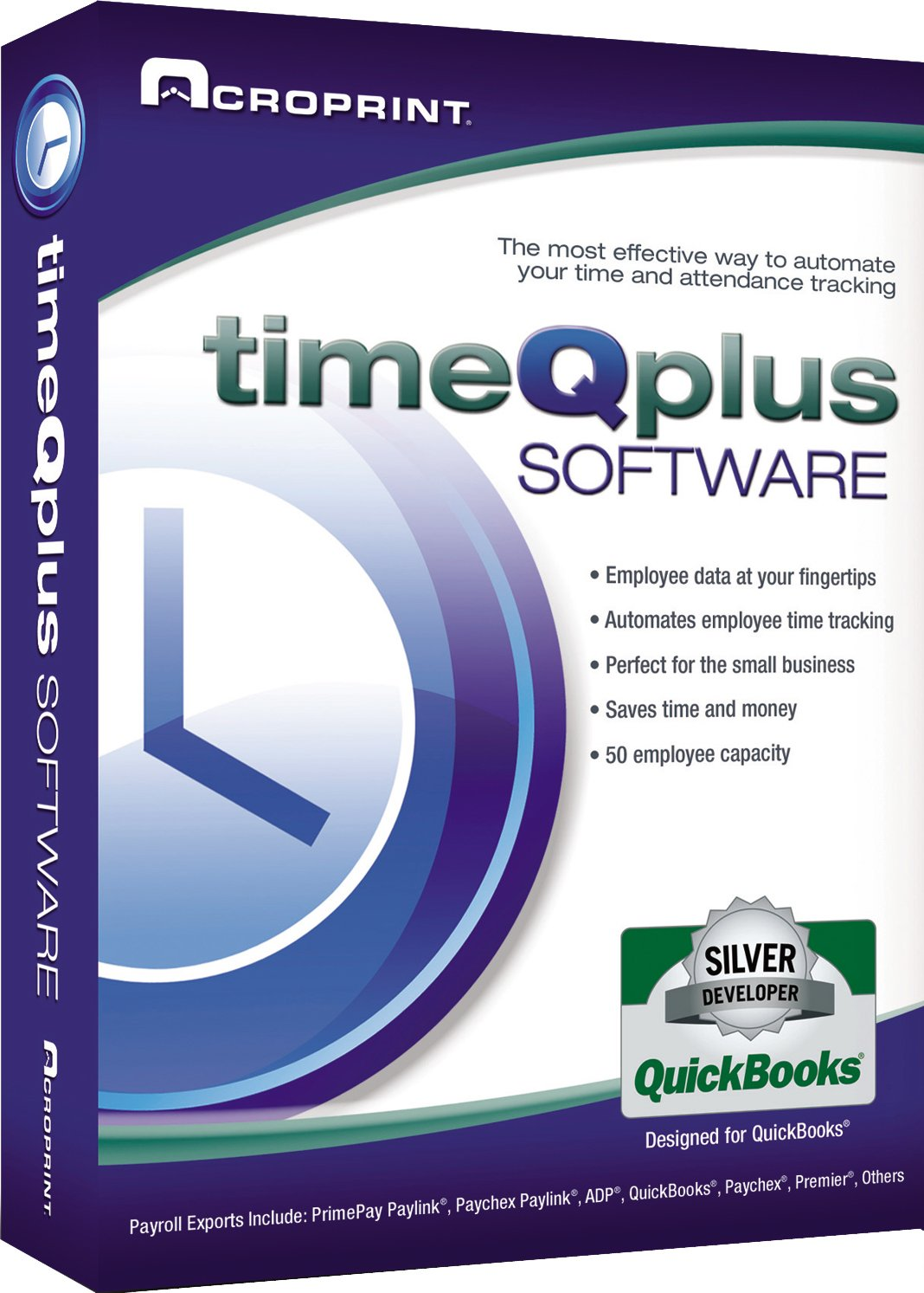 Acroprint timeQplus Software – Single Location Time and Attendance Software Time Clock