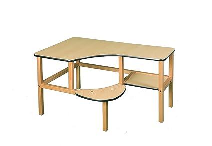 Pre-School Computer Desk Trim Color: Green, Finish: Maple