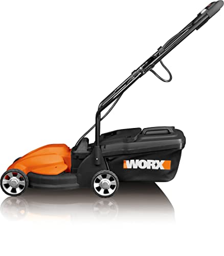 WORX WG775 Lil'Mo 14-Inch 24-Volt Cordless Lawn Mower with Removable Battery and Grass Collection Bag