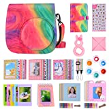 Bsuuy 14 in 1 Instax Mini 9 Camera Accessories Set for Fujifilm Instax Mini 9/ Mini 8/ Mini 8+ Camera, Includes Mini 9 Case,Albums,Six Color Filters,Rainbow Shoulder Strap ETC (Oil Paint) (Color: Oil Paint)