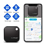 Key Finder - TBMax Smart Key Tracker Bluetooth GPS Locator with App Control for Phone, Anti-Lost Finder Device, Slim Wallet Luggage Tracker (Color: Black)