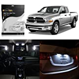 Partsam 2009 2010 2011 2012 Dodge Ram 1500 White Interior LED Light Package Kit (7 Pieces)