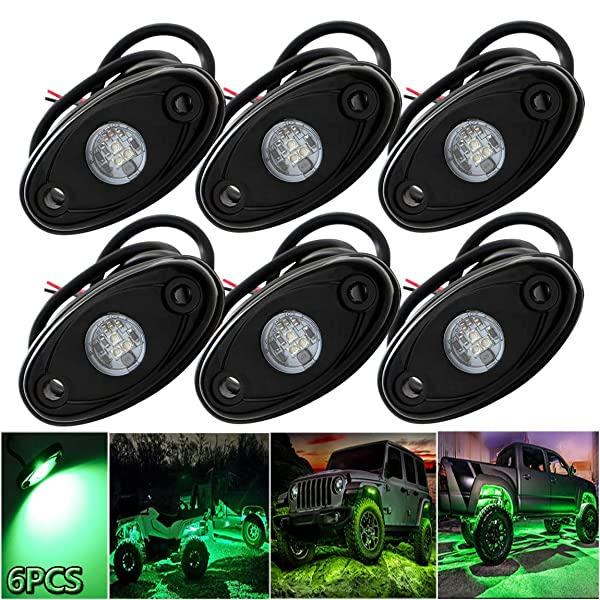 Pack of 8,Blue LEDMIRCY LED Rock Lights Blue Kit for JEEP Off Road Truck ATV SUV Boat Car Auto High Power Underbody Glow Neon Trail Rig Lights Underglow Lights Waterproof Shockproof