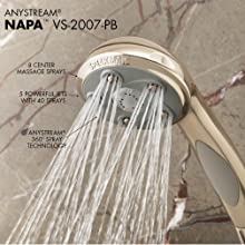 Speakman VS-2007-PB Napa High Pressure Handheld Shower Head with Hose, Polished Brass