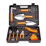 TOORGGOO Gardening Tools Set,12 Piece Stainless Steel Portable Gardening Tools Set Gifts for Men Women Gardener (orange121) (Color: Orange121)