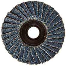 "Weiler BobCat 2"" Diameter, 80 Grit, Zirconium, Plastic Backing, Type 27 Specialty Abrasive Flap Mini Disc"