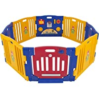 Costway Baby Playpen Kids 8 Panel Safety Play Center